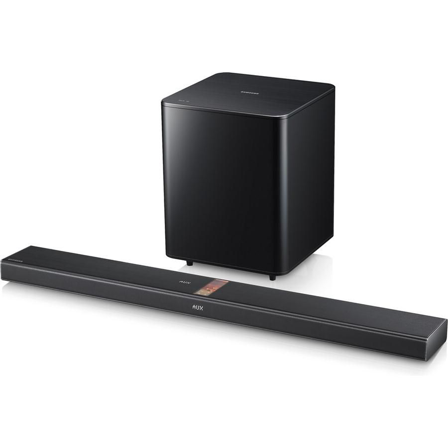 Samsung HW F750 2.1 Channel Home Theater Sound Bar With Hybrid Amplifier  Design,