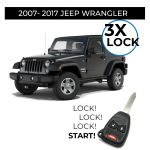 3X Lock Remote Start Installation for 2007-2017 Jeep Wrangler Vehicles (in store only)