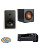 (7 pcs) Klipsch R-1650-W In-wall Speaker + (1) Klipsch R-100SW Powered Subwoofer + (1) Onkyo TX-NR595 Receiver