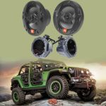 SSV Works JJL-CS65U Custom swiveling cage speaker pods for Jeep Wrangler Unlimited JL & JBL MS65B Club Series 6-1/2