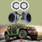 SSV Works Custom swiveling cage speaker pods for Jeep Wrangler Unlimited JL & Infinity KAPPA6120MAM Kappa Series 6-1/2