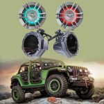 SSV Works Custom swiveling cage speaker pods for Jeep Wrangler Unlimited JL & Infinity KAPPA6125MAM Kappa Series 6-1/2