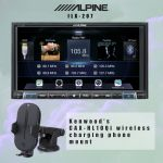 Alpine ILX-207 Digital multimedia receiver with Android Auto™ and Apple CarPlay® + Kenwood CAX-HL10Qi wireless charging phone mount Bundle