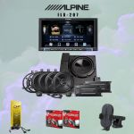 Alpine ILX-207 Digital multimedia receiver + Alpine PSS-22WRA speaker system Bundle