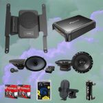 Alpine PSU-300FRN Powered System Upgrade + Alpine S-S69C Speakers Bundle pack