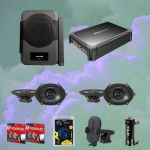 Alpine PSU-300MTG Powered System Upgrade Speakers Bundle pack