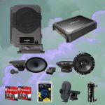 Alpine PSU-300TCM Powered System Upgrade + Alpine S-S69C Speakers Bundle pack