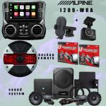 Alpine I209-WRA Receiver/ Sound system and Rearview/ Dash camera bundle