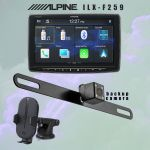 Alpine's iLX-F259 multimedia receiver  - Kenwood's CAX-HL10Qi wireless charging phone mount   - iBeams TE-BPLTC Active Parking Line Camera BUNDLE