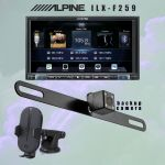Alpine's iLX-207 multimedia receiver  - Kenwood's CAX-HL10Qi wireless charging phone mount   - iBeams TE-BPLTC Active Parking Line Camera BUNDLE