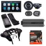 Alpine ILX-W650 w/ Sound system for Harley Davidson (Speakers x Amp x Dash kit x Speaker saddlebag lid)