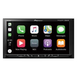 Pioneer DMH-1500NEX Double DIN Car Stereo Receiver with Built-in Android Auto and Apple CarPlay, 7