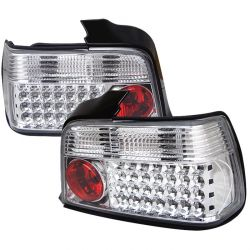 Spyder 111-BE3692-4D-LED-C BMW E36 3-Series 92-98 4Dr LED Tail Lights (Chrome)