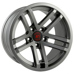 Rugged Ridge Jesse Spade Wheel, 17x9, Satin Gun Metal; 07-16 Jeep Wrangler JK