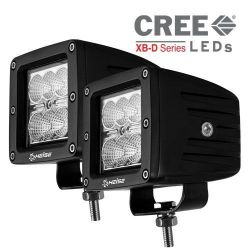 Heise HE-CL32PK 3 Inch 6 LED Cube 2 Light Kit