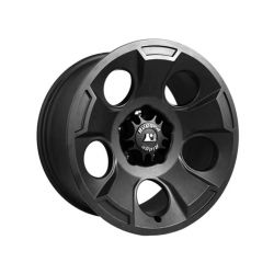 Rugged Ridge Drakon Wheel, 17x9, Black Satin; 07-16 Jeep Wrangler JK