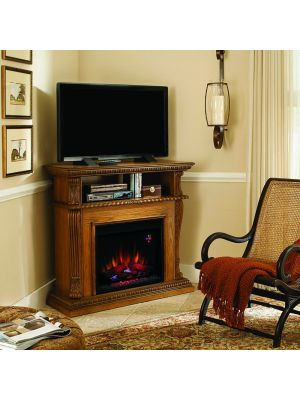 ClassicFlame Corinth Wall or Corner TV Stand for TVs up to 47
