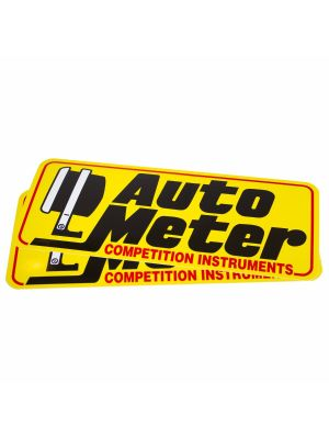 Auto Meter 0207 Decal, Contingency, Yellow, 'Competition Instruments'