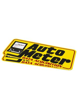 Autometer 0216 Decal Contingency Data Acquisition Yellow