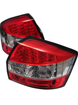 Spyder 111-AA402-LED-RC Audi A4 02-05 LED Tail Lights (Red Clear)