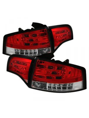 Spyder 111-AA406-G2-LED-RC Audi A4 4Dr 06-08 LED Tail Lights (Red Clear)
