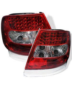 Spyder 111-AA496-LED-RC Audi A4 96-01 LED Tail Lights (Red Clear)