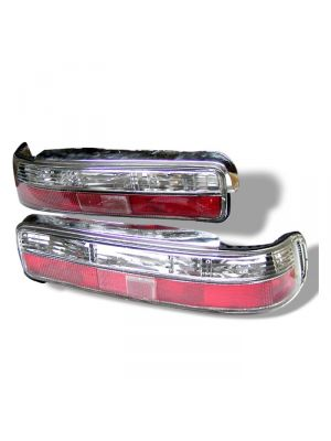 Spyder 111-AI90-RC Acura Integra 90-93 2Dr Euro Style Tail Lights (Red Clear)
