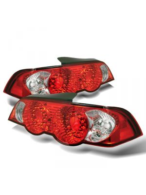 Spyder 111-ARSX02-LED-RC Acura RSX 02-04 LED Tail Lights (Red Clear)