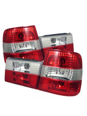 Spyder 111-BE3488-RC BMW E34 5-Series 88-95 Euro Style Tail Lights (Red Clear)