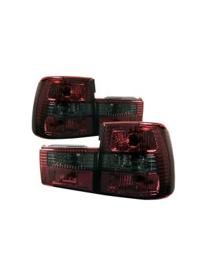 Spyder 111-BE3488-RS BMW E34 5-Series 88-95 Euro Style Tail Lights (Red Smoke)
