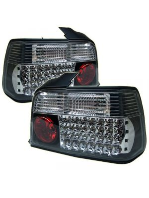 Spyder 111-BE3692-4D-LED-BK BMW E36 3-Series 92-98 4Dr LED Tail Lights (Black)