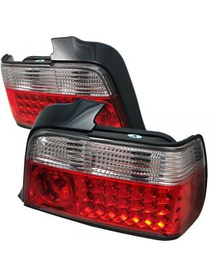 Spyder 111-BE3692-4D-LED-RC BMW E36 3-Series 92-98 4Dr LED Tail Lights (Red Clear)