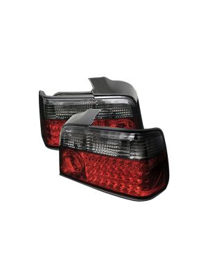 Spyder 111-BE3692-4D-LED-RS BMW E36 3-Series 92-98 4Dr LED Tail Lights (Red Smoke)