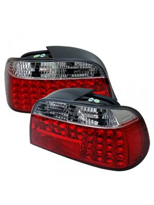 Spyder 111-BE3895-LED-RC BMW E38 7-Series 95-01 LED Tail Lights (Red Clear)