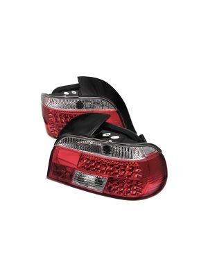 Spyder 111-BE3997-LED-RC BMW E39 5-Series 97-00 LED Tail Lights (Red Clear)
