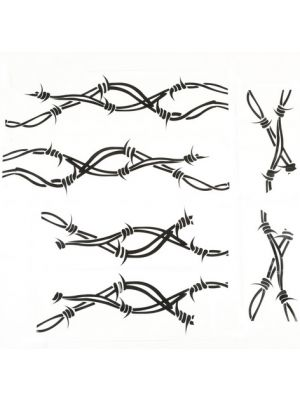 Rugged Ridge 12300.32 07-15 Wrangler Rugged Barbed Wire Side Decals Pair