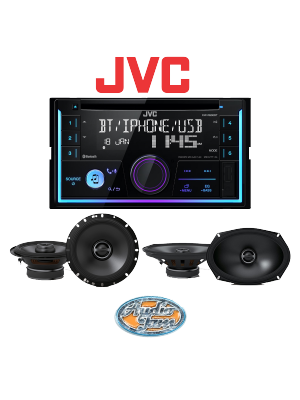 JVC KW-R930BTS Car Receiver + Alpine S-S65 Car Speakers + Alpine S-S69 Car Speakers