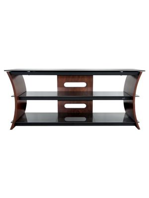Bell'O CW356 - Caramel Brown Finish Curved Wood Audio/Video Furniture