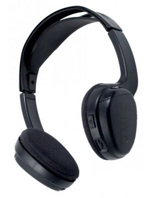 Power Acoustik WLHP100 Single Channel Wireless Infrared Headphone with Adjustable Straps, Pair