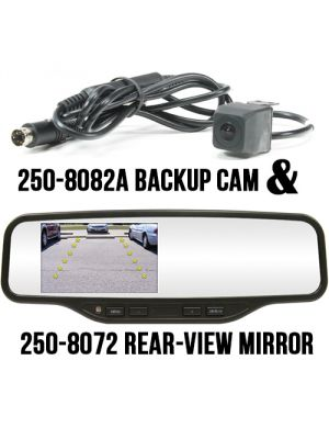 Rostra 250-8081 (2508081) RearSight Rearview Mirror /w 4.3