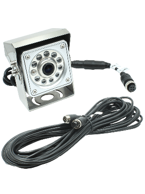 Rostra 250-8098-HD-10M Hinge-Mount CCD Color Camera 33' harness and RCA adapter