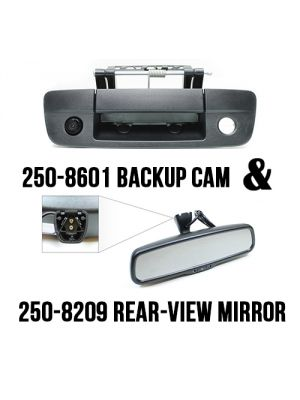 Rostra 250-8209-RM-LCH (2508209RMLCH) Tri-Lobe Rear-View Mirror /w 4.3