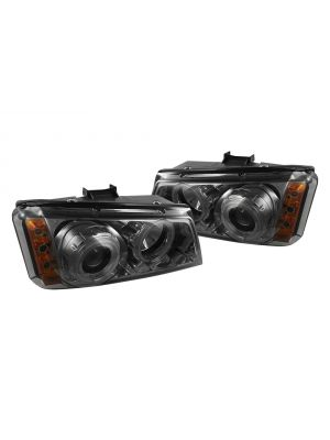 Spyder 444-CS03-AM-BK - Black Halo Projector Headlights with LEDs