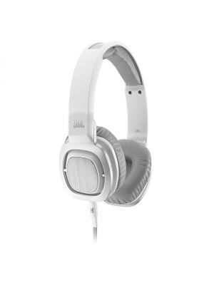 JBL J55i On-Ear Headphones with iOS Compatible In-Line Controls (White)