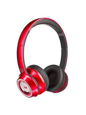 Monster® NC-MH-NTU-ON-C-RD-WW NCredible NTune HD Candy On-Ear Headphones with ControlTalk Universal™ (Red)