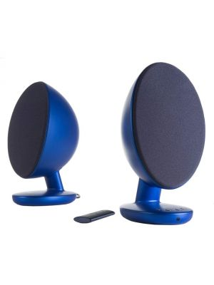 KEF EGG Versatile Desktop Speaker System - Frosted Blue (Pair)