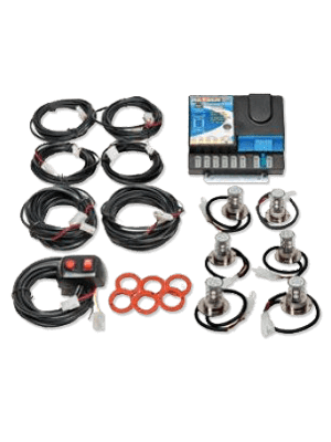 Wolo 8506-30-2B4R 6 Head LED Kit - 2 Blue/4 Red