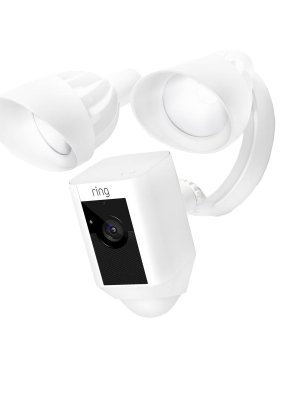 Ring 88FL000CH000 Outdoor Wi-Fi Cam with Motion Activated Floodlight - White