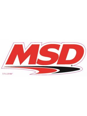 MSD Ignition 9299 Decal MSD Logo 7.5