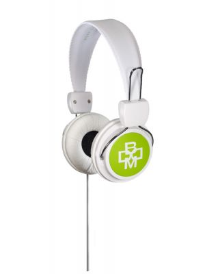 BOOM RGWG 3.5MM CONNECTOR OVER EAR RENEGADE HEAPHONE WHITE GREEN